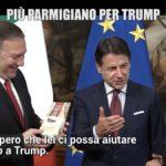 Le iene a Palazzo Chigi blitz contro Dazi USA, imbarazzo