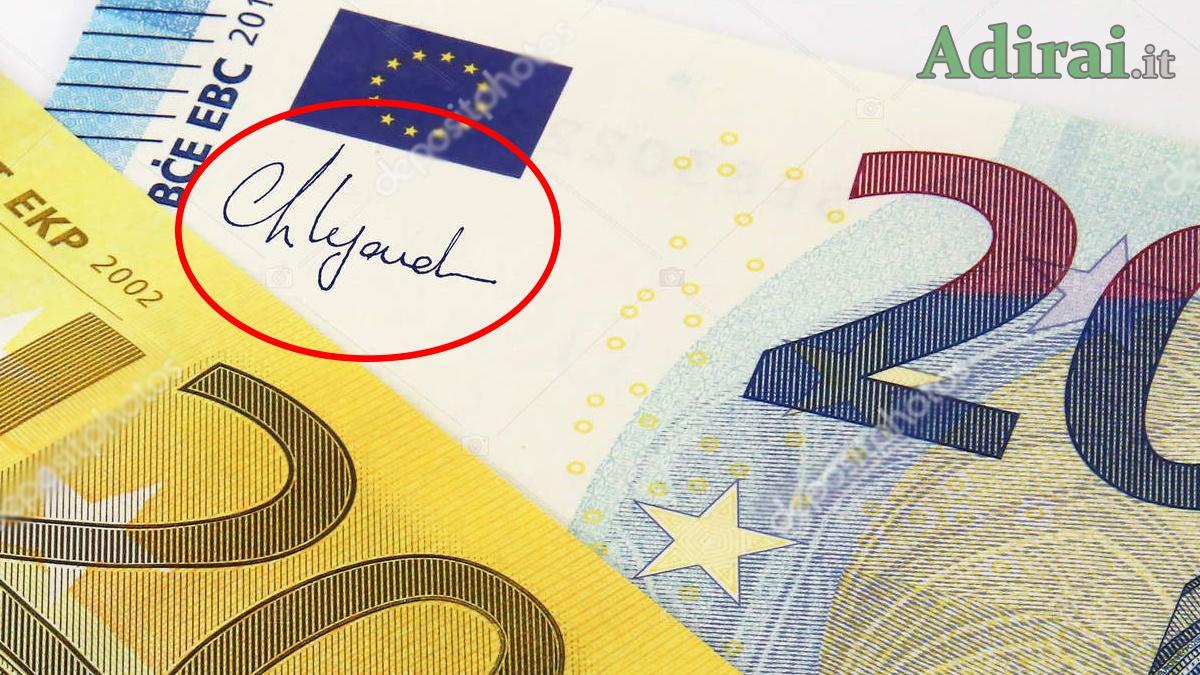 christine lagarde banconota da 20 euro
