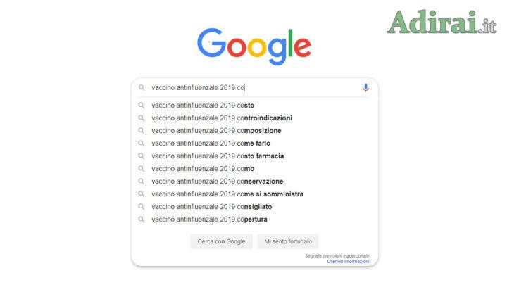 notizie salute google italiani ricerche online