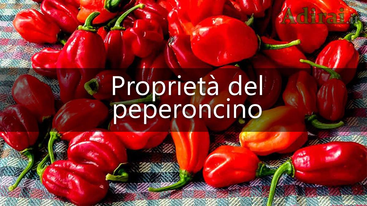 habanero proprietà del peperoncino