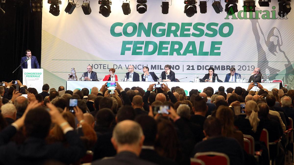 matteo salvini congresso lega umberto bossi nuovo statuto