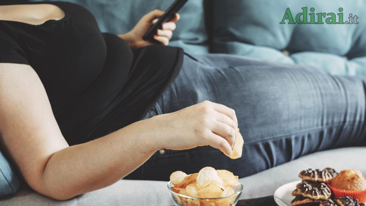 vita sedentaria dieta rischi conseguenze cause