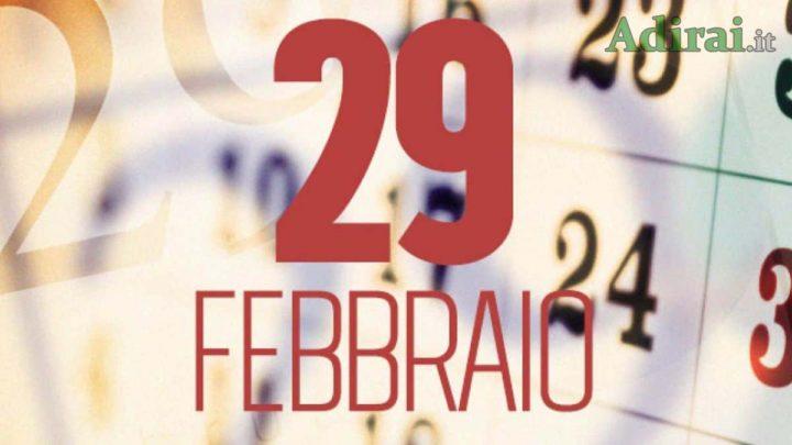 29 febbraio anno bisestile