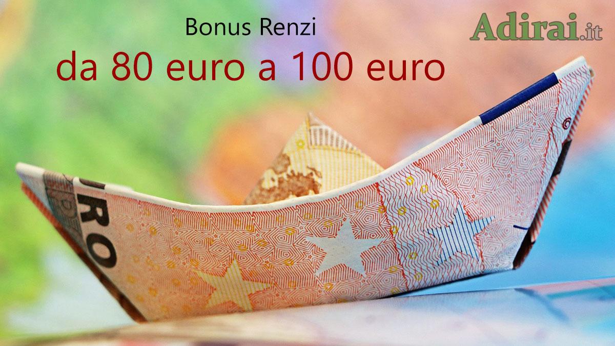 bonus renzi 2020 80 euro 100 euro
