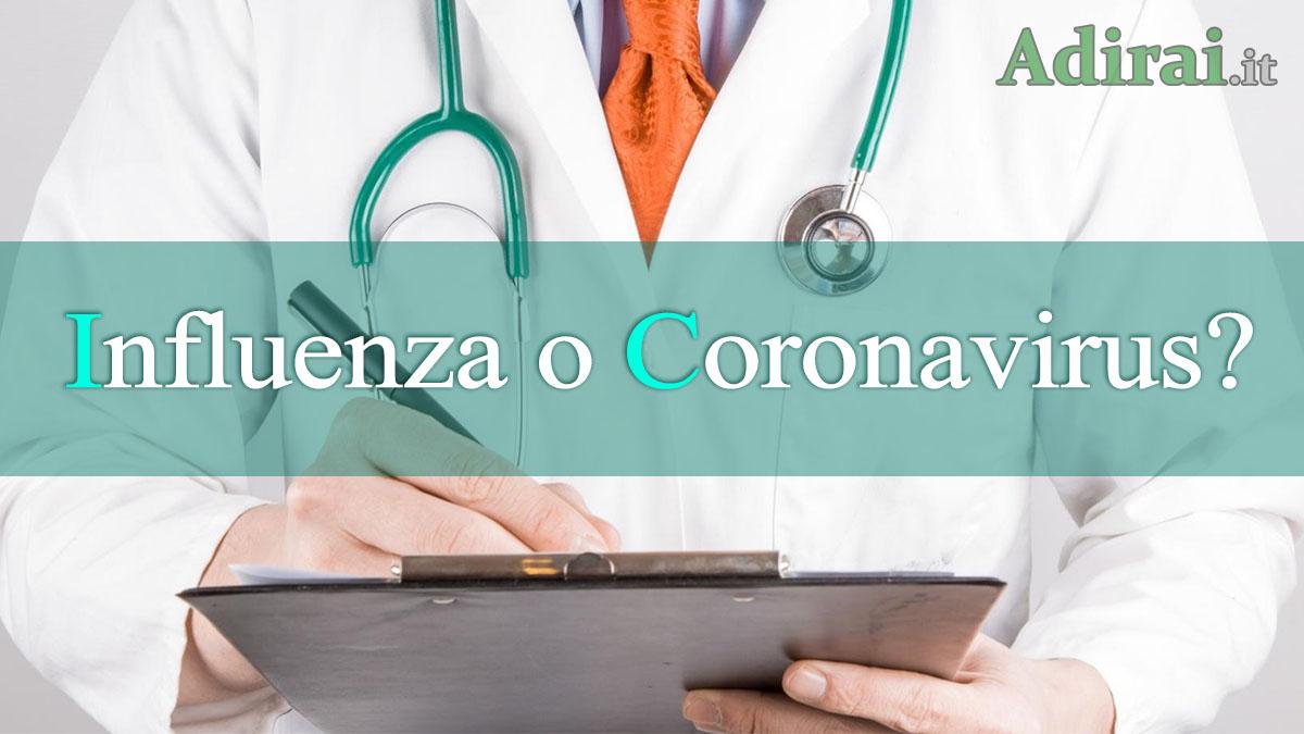 influenza sintomi diagnosi coronavirus triage telefonico