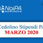 NoiPa cedolino Marzo 2020 data accredito stipendi PA