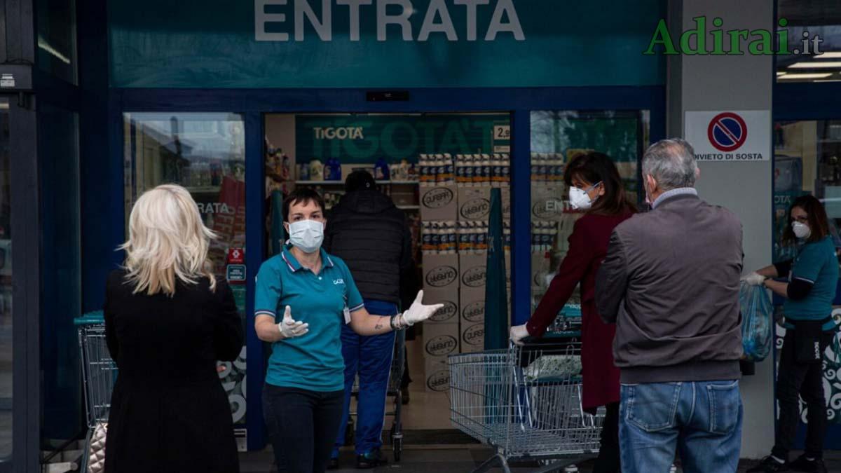 coronavirus spesa aggiornamenti ora per ora 18 marzo