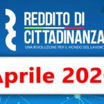 Reddito di cittadinanza pagamento Aprile 2020 data ricarica RdC