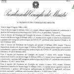 Coronavirus DPCM Gazzetta Ufficiale decreto 8 marzo 2020