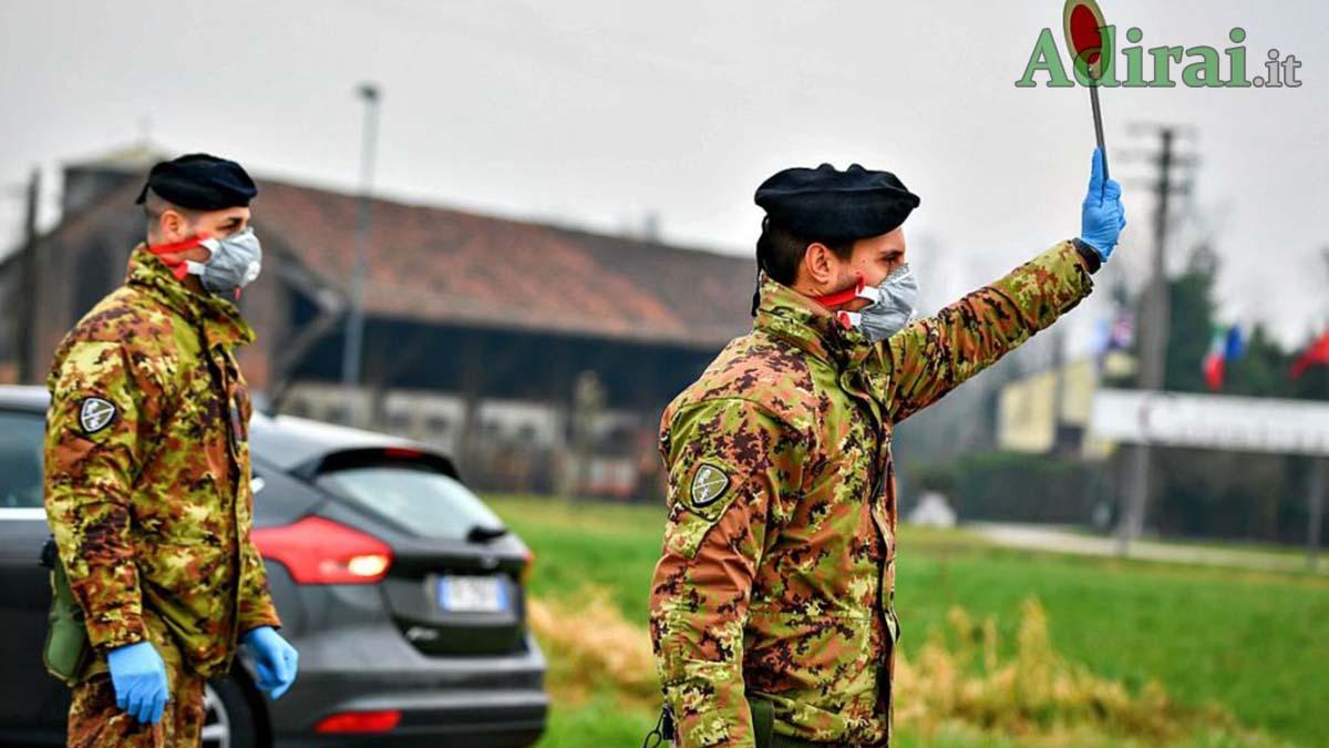 esercito zona rossa militari coronavirus news