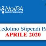 NoiPa cedolino Aprile 2020 data accredito stipendi PA