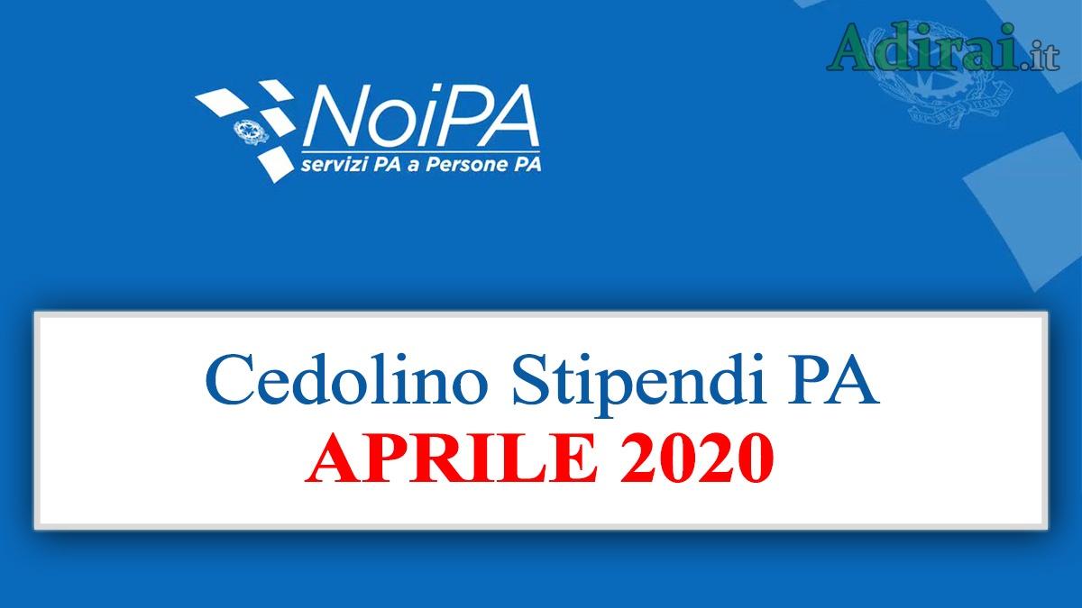 noipa cedolino aprile 2020 accredito stipendio