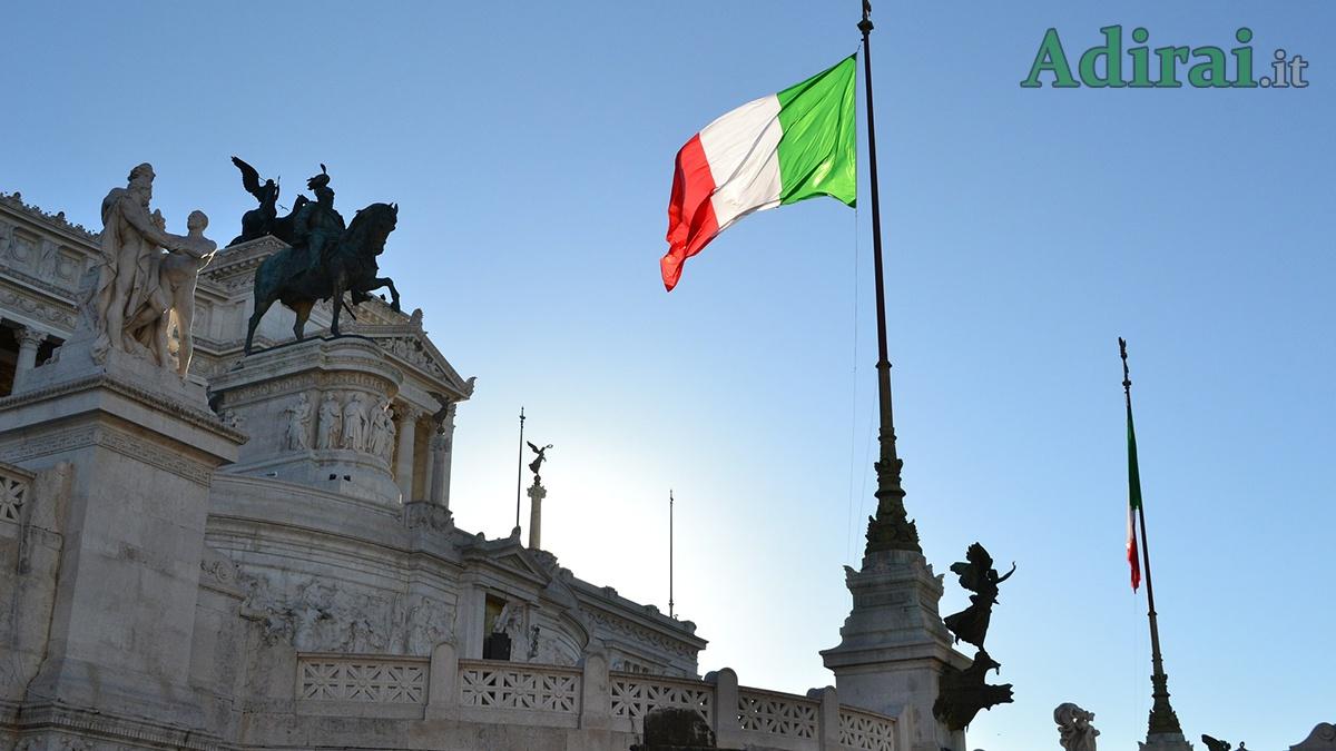 25 aprile 2020 festa liberazione altare della patria bandiera italiana