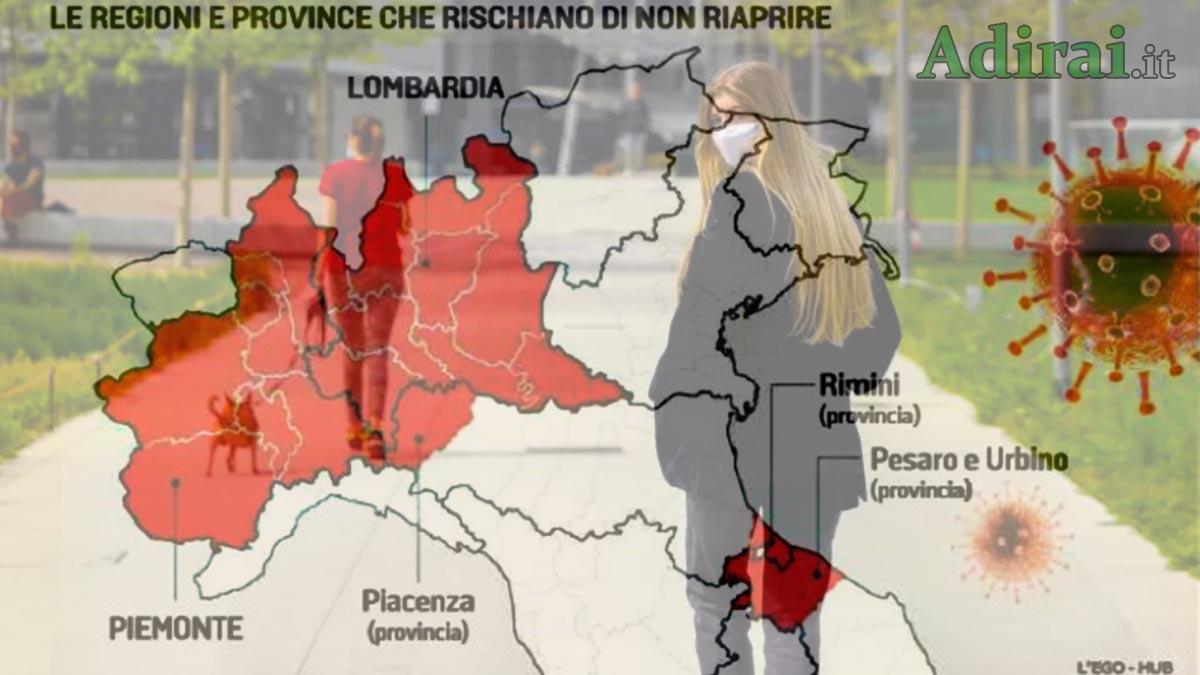 riapertura regioni in italia coronavirus