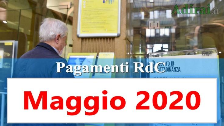 reddito di cittadinanza accredito maggio 2020 pagamento RdC