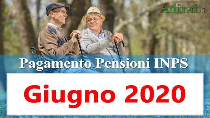 pagamento pensioni inps giugno 2020 in banca e poste