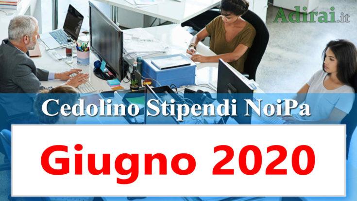 noipa cedolino stipendio pa giugno 2020 - login