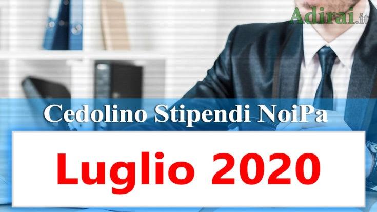 noipa cedolino stipendio pa luglio 2020 - login