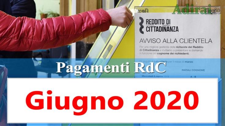 reddito di cittadinanza accredito pagamenti giugno 2020 pagamento RdC