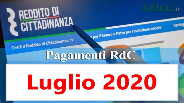 reddito di cittadinanza accredito pagamenti luglio 2020 pagamento ricarica RdC