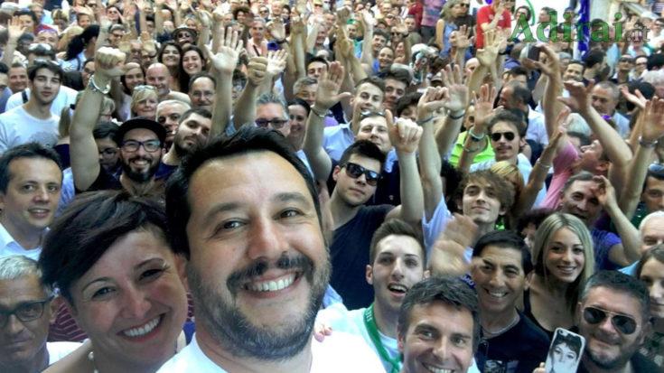 salvini lega sondaggi politici openmedia la7