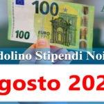 NoiPa cedolino Agosto 2020 data accredito stipendi PA e bonus