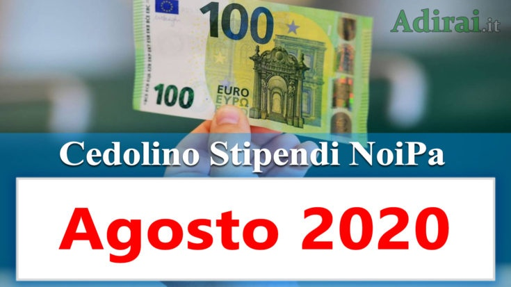 noipa cedolino stipendi pa agosto 2020 - login