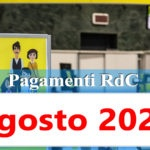Reddito di cittadinanza Pagamento Agosto 2020 ricarica RdC
