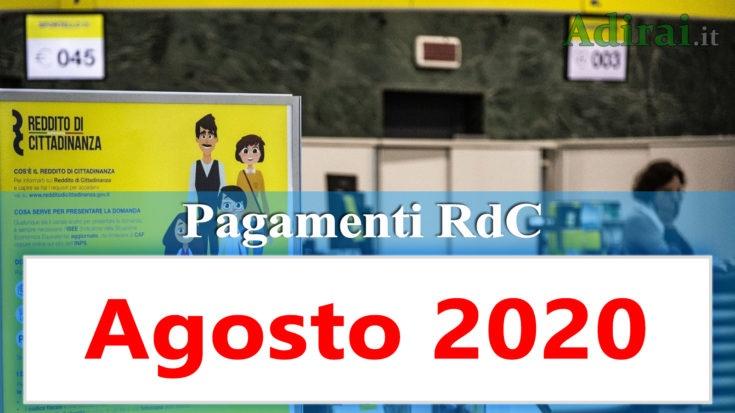 reddito di cittadinanza accredito pagamenti agosto 2020 pagamento ricarica RdC