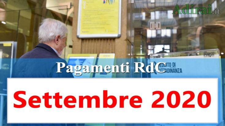 reddito di cittadinanza accredito pagamenti settembre 2020 pagamento ricarica RdC