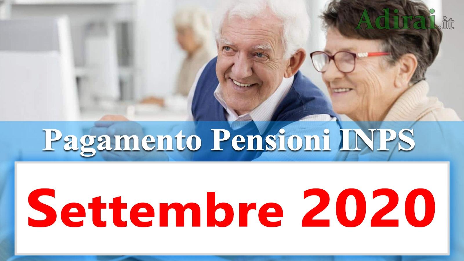 pagamento pensioni settembre 2020 in anticipo dal calendario inps per banca e poste