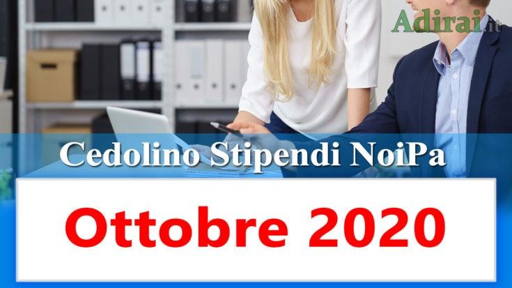 noipa cedolino stipendi pa ottobre 2020 - login