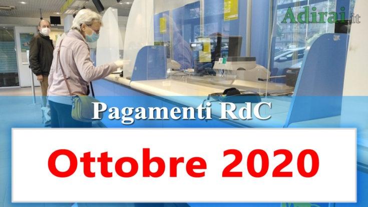 reddito di cittadinanza accredito pagamenti ottobre 2020 pagamento ricarica RdC