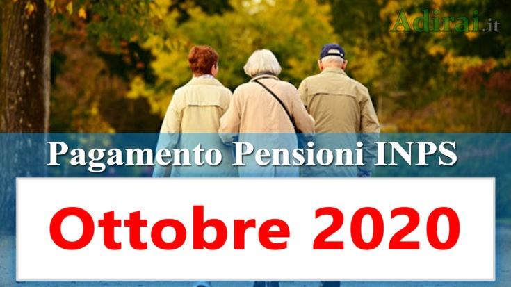 pagamento pensioni ottobre 2020 in anticipo dal calendario inps per banca e poste