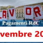 Reddito di cittadinanza pagamento Novembre 2020 ricarica RdC