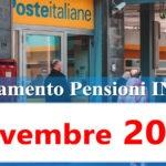 Pagamento pensioni novembre 2020 in anticipo Calendario accredito Inps