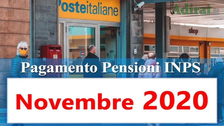 pagamento pensioni novembre 2020 in anticipo dal calendario inps per banca e poste