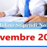 NoiPa cedolino Novembre 2020 data accredito stipendi PA