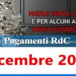 Reddito di cittadinanza pagamento Dicembre 2020 ricarica RdC