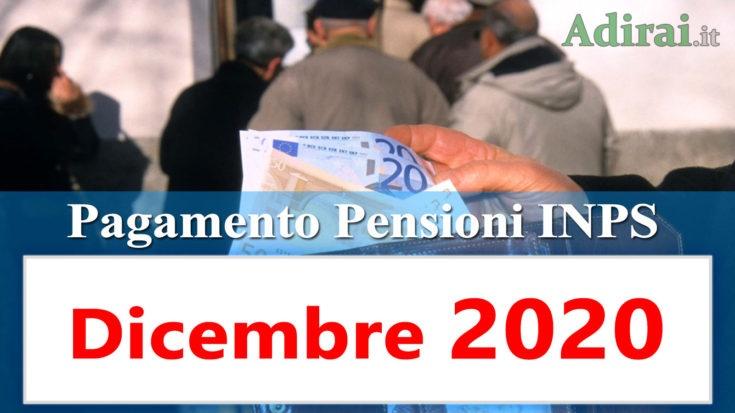 pagamento pensioni dicembre 2020 in anticipo dal calendario inps per banca e poste