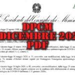 Nuovo DPCM 3 dicembre 2020 pdf e chiarimenti su spostamenti, negozi, scuola e congiunti