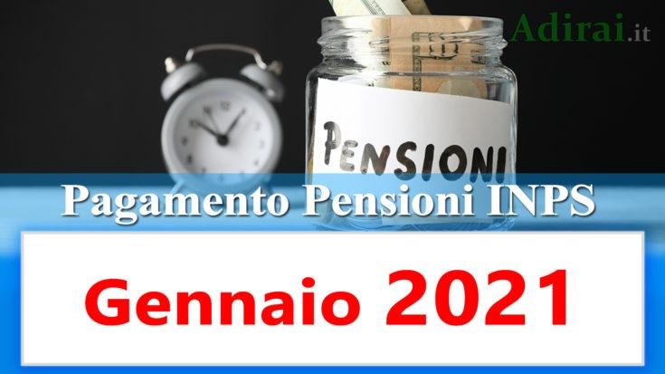 pagamento pensioni inps gennaio 2021 in anticipo in banca e in poste