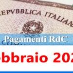Reddito di cittadinanza pagamento Febbraio 2021 ricarica RdC