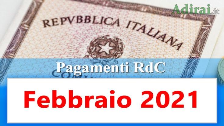 reddito di cittadinanza accredito pagamenti febbraio 2021 pagamento ricarica RdC