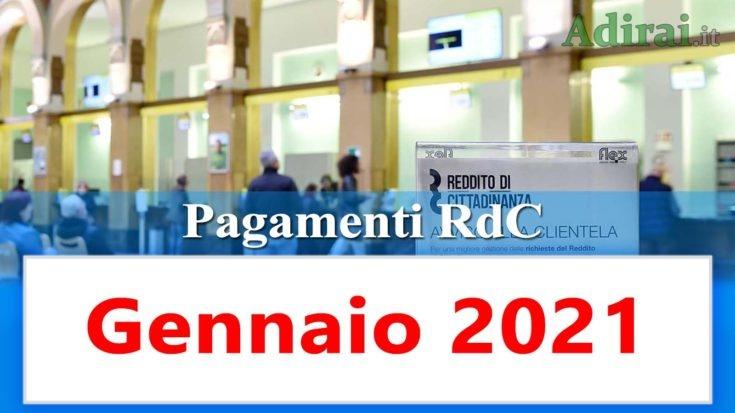 reddito di cittadinanza accredito pagamenti gennaio 2021 pagamento ricarica RdC