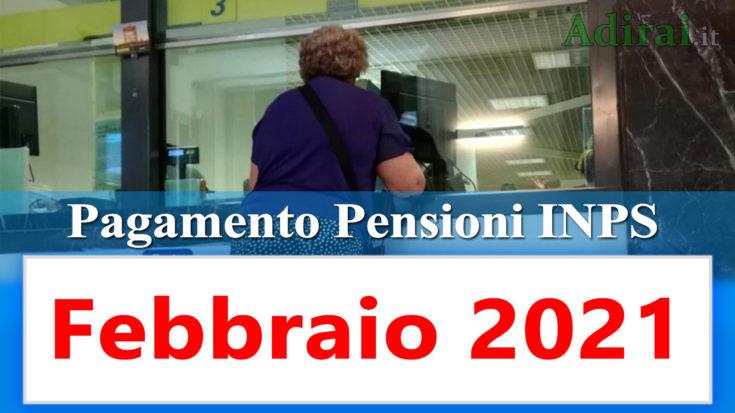 pagamento pensioni inps febbraio 2021 in anticipo in banca e in poste