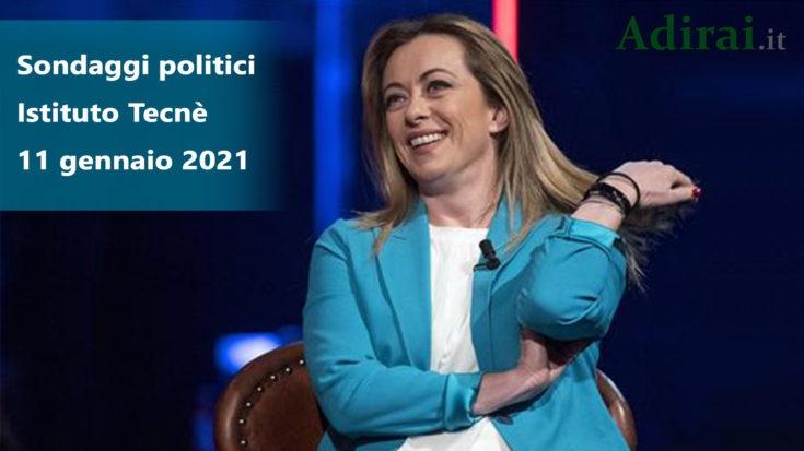 ultimi sondaggi politici tecne 11 gennaio 2021