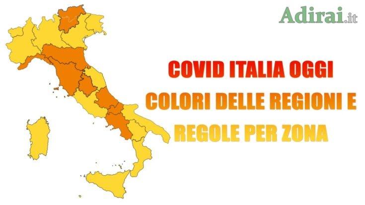 covid italia oggi 2021 colori regioni regole zona gialla arancione rossa
