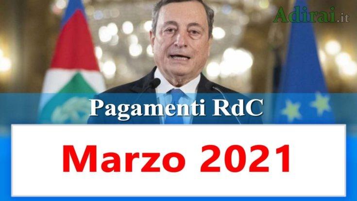 reddito di cittadinanza accredito pagamenti marzo 2021 pagamento ricarica RdC
