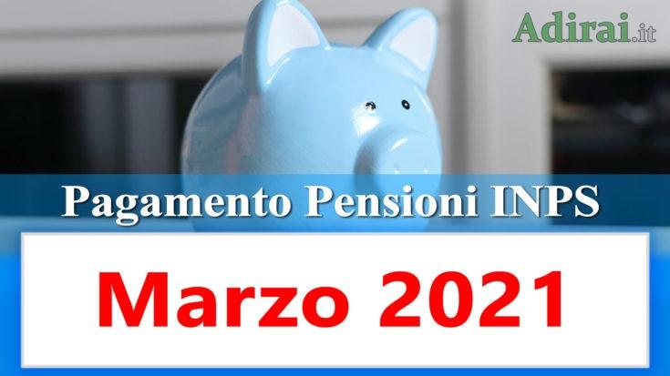 pagamento pensioni inps di marzo 2021 in anticipo in banca e in poste